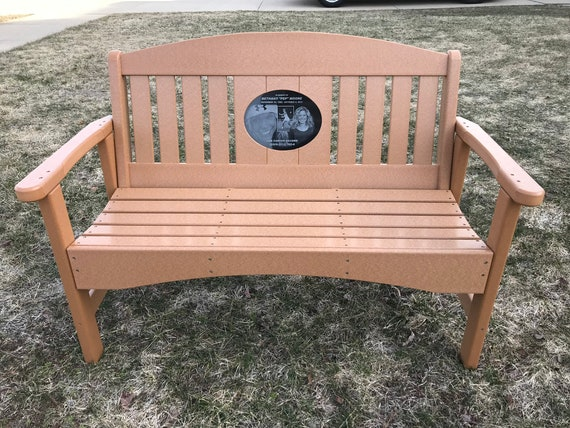 Groovy 48 Memorial Bench With 8 5X11 Laser Engraved Granite Inlay Short Links Chair Design For Home Short Linksinfo