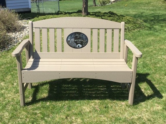 Fine 48 Memorial Bench With 8 5X11 Laser Engraved Granite Inlay Short Links Chair Design For Home Short Linksinfo