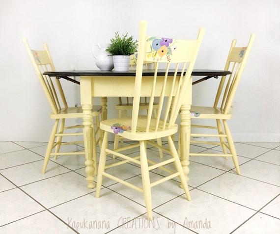 Kitchen Table Set Vintage Retro Boho Cottage Style Etsy