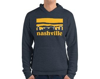 Women/'s Fleece Crop Hoodie Nashgonia Nashville Skyline Nashville Predators