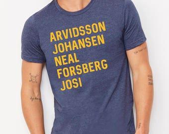 Customized Nashville Predators Players List Unisex Adult T-Shirt CpL1vJpVcN