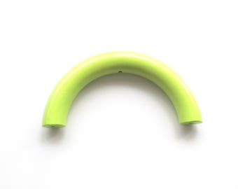Half 100mm lime green wooden ring