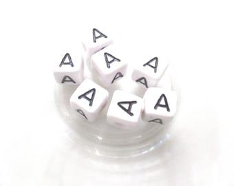 10 pearls Alphabet has 10 * 10mm acrylic