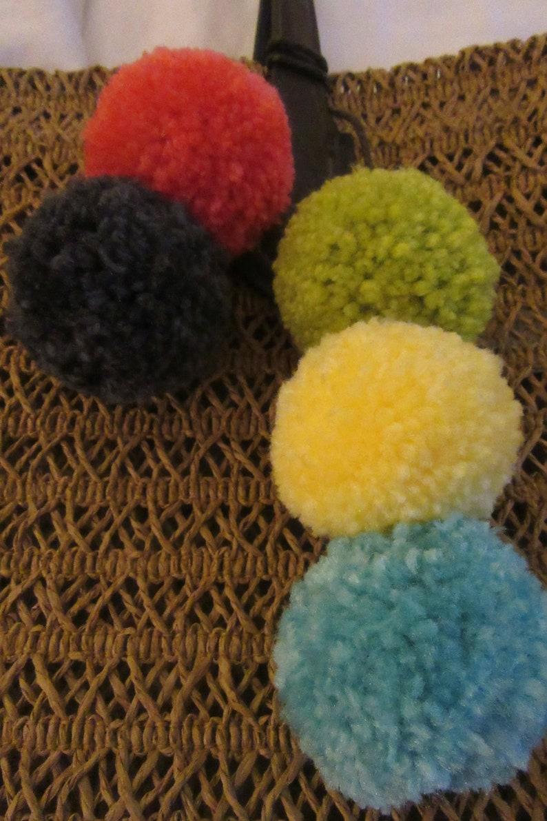 Pom Pom Addition for Tote Bag Handbag Purse Pom Pom Lanyard Straw Tote Pom Pom Tie Pom Pom Keychain Pom Pom Decoration Pom Pom Tote