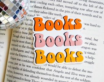 Books, book sticker, reading sticker, boho sticker, bookstagram, booktok, book lover, reading gift, bookish gift, waterproof sticker