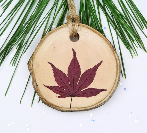 nature ornament japanese maple leaf ornament christmas etsy etsy