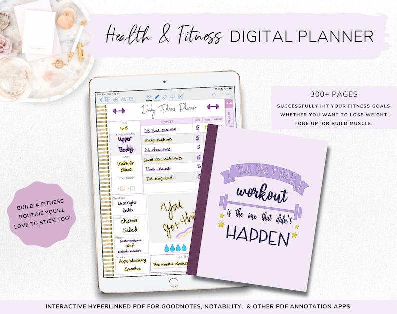 Digital Planner for Fitness  Workout Planner  Digital image 0