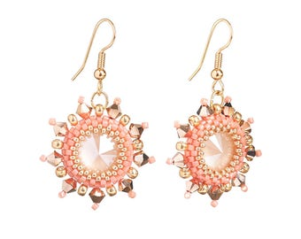 Earrings Kit Arabian Star with Swarovski® Crystals - Rose Gold