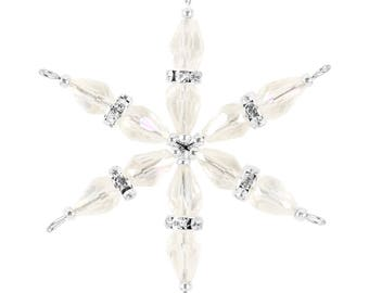 Ornaments Kit Sparkling Snowflake  – Crystal Clear