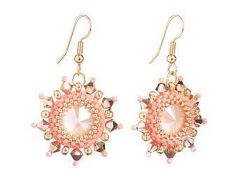 Earrings Kit Arabian Star with Swarovski® Crystals - Rose Gold