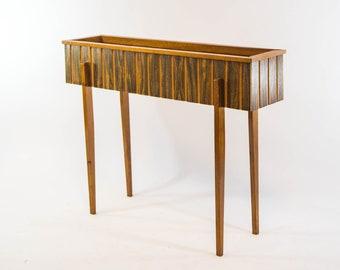 Midcentury planter | Laminated teak | Danish design | vintage 60's