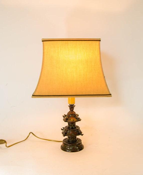 Japanese Cloisonne Table Lamp Etsy