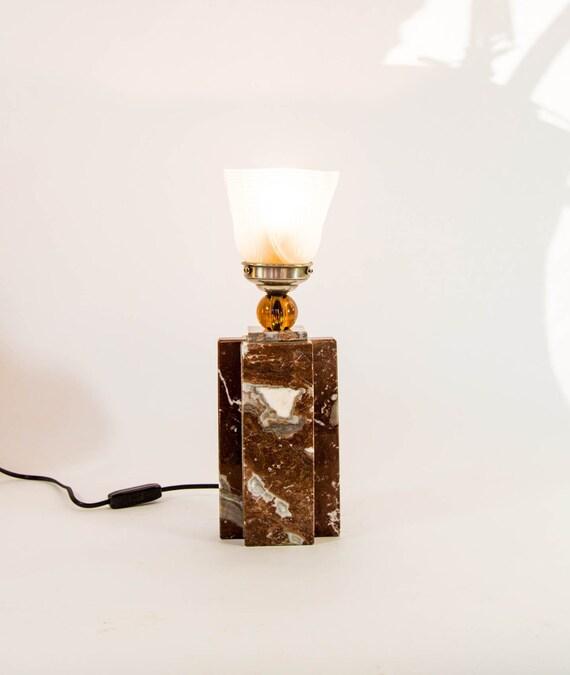 Classic art deco table lamp | Full marble base | 1920's