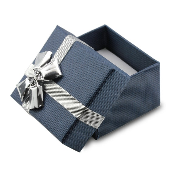 JamesJenny Ladies 10K14K White Gold 1.8ct Heart Blue CZ Halo Beautiful Ring Size 4-10