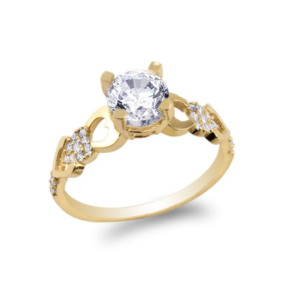 JamesJenny Ladies 10K//14K Yellow Gold 15 Anos Quinceanera   Ring Size5-10