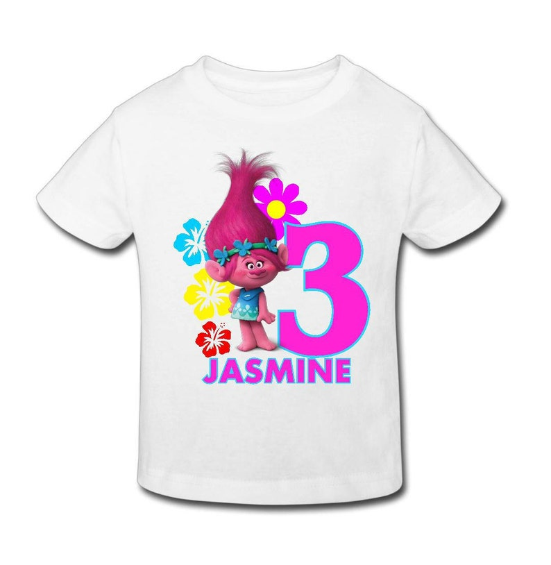 Trolls Birthday T Shirt Kids Personalized