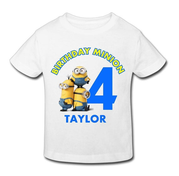 Minion T Shirt Email Us Name And Size Personalized Birthday