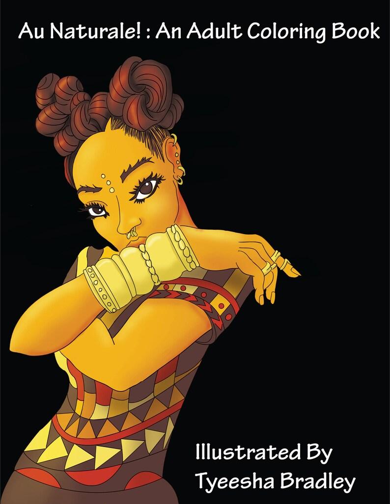 30 Seiten, Naturhaar, African American, Mode, Urban, Erwachsene  Malvorlagen, handgezeichneten Kunst au Naturale Erwachsenen Coloring Book,