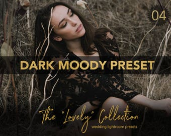 Dark Moody LXC Inspired Wedding Lightroom Preset - Lovely 04  - The Lovely Collection by Shae Estella Photo