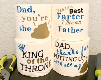 Funny Fathers Day Gift Gag First Gifts For Dad From Son Toilet Paper