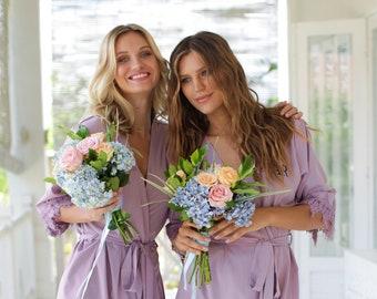Set of 4 Bridesmaid Robes, Bridal Party Robes, Bridesmaid Gifts , Wedding Robes, Bride Robe, Bridesmaid Robe, Bridal Party Robe