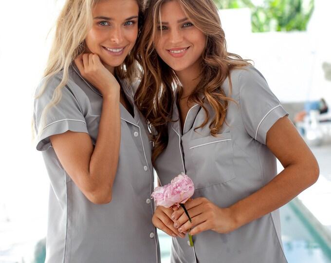 Bridesmaid Pajamas Monogrammed Pajamas Bridesmaid Gift Bride Pajamas Monogrammed pjs Bridesmaid Pajamas set Bridal pajama Bridal party pjs