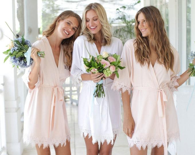 Set of 3 Bridesmaid Robes, Bridal Party Robes, Bridesmaid Gifts , Wedding Robes, Bride Robe, Bridesmaid Robe, Bridal Party Robe