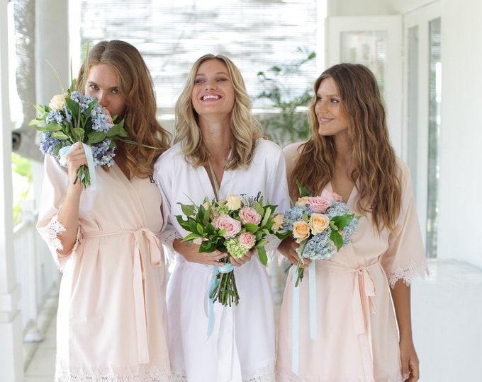 Set of 9 Bridesmaid Robes, Bridal Party Robes, Bridesmaid Gifts , Wedding Robes, Bride Robe, Bridesmaid Robe, Bridal Party Robe