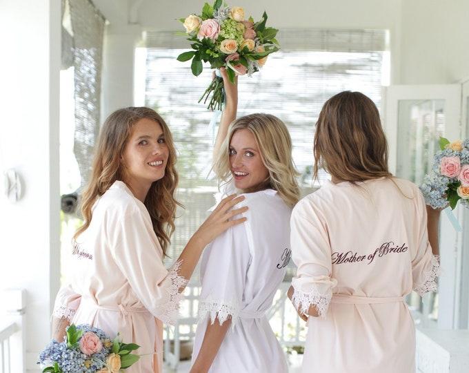 Set of 8 Bridesmaid Robes, Bridal Party Robes, Bridesmaid Gifts , Wedding Robes, Bride Robe, Bridesmaid Robe, Bridal Party Robe