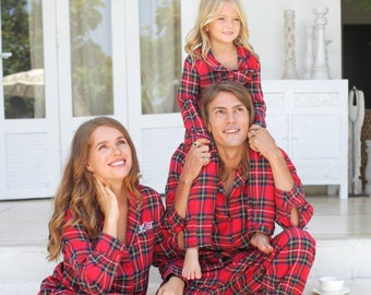 Christmas Pajamas Photoshoot.Christmas Pajamas Etsy