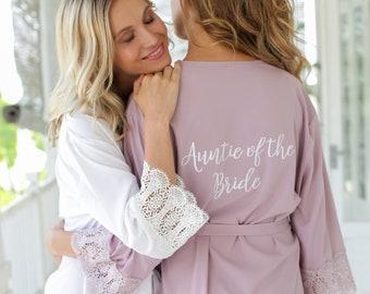 Bridesmaid Robes, Bridesmaid Lace Robes, Lace Bridal Robes, Bridal Party Robes, Bridal Party Robes, Bridesmaid Gifts, Bridesmaid Robe