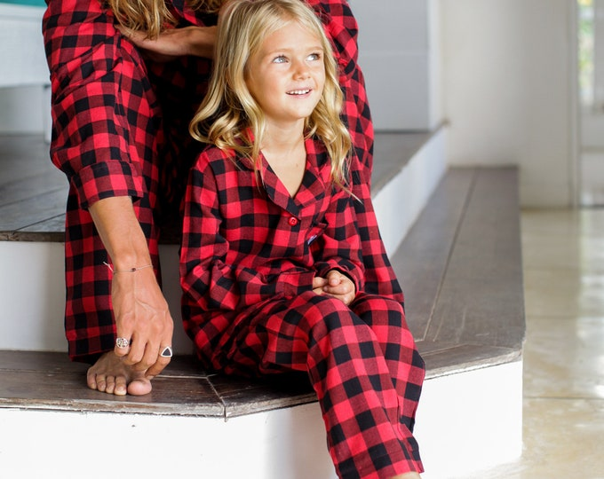 Flower Girl Proposal, Flower Girl Gift, Flower Girl PJs, Flower Girl Pajamas, Flower Girl Flannel Pajamas, Kids Flannel , Flower Girl Dress,