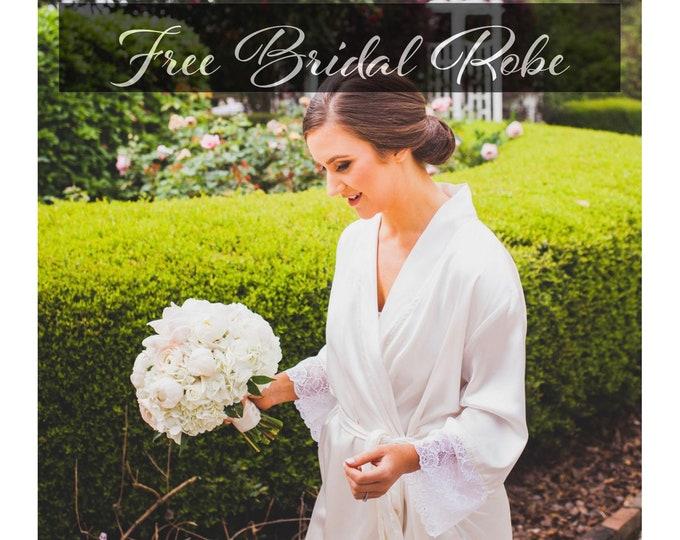 Set of Bridesmaid Robes -Gift for Bridesmaid -Robe for Bridesmaid -Bridesmaid Gift -Satin Robes Set- Bridesmaid Robes -Kimono Robe