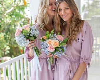 Set of 6 Bridesmaid Robes, Bridal Party Robes, Bridesmaid Gifts , Wedding Robes, Bride Robe, Bridesmaid Robe, Bridal Party Robe