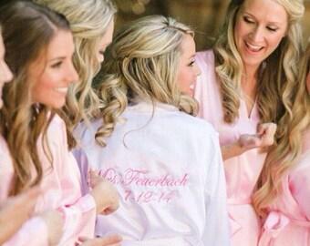 Set of Bridesmaid Robes, Bridesmaid Gifts, Set of Bridesmaid Robes, Bridesmaid Robe, Bridesmaid Gift, Kimono Robe, Wedding Robes