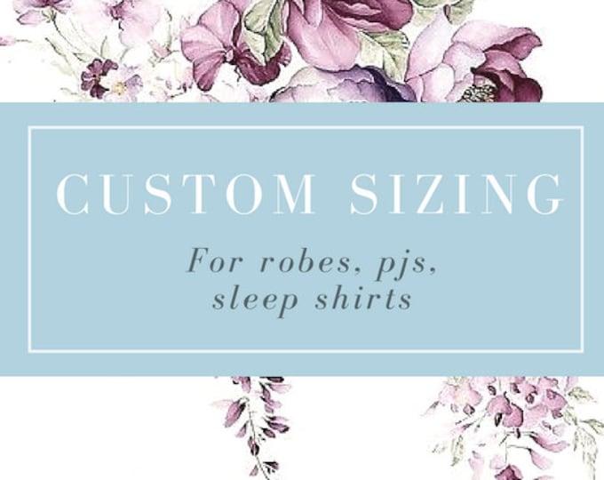 Custom Sizing Add On