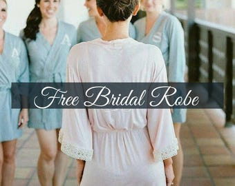 Lace Robe, Bridesmaid Robes, Bridesmaid gifts, Cotton Robe, Bridal robes, Getting ready outfit, Wedding robes
