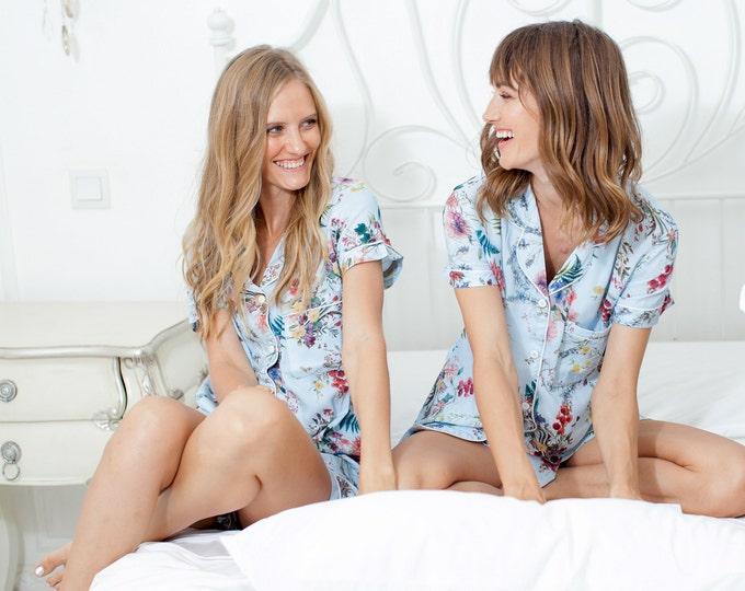 Bridal // Bridesmaid PJs // Bridesmaid Gift // Pyjamas // Bridal PJS // Pajama Shorts // Bridesmaid Pajamas // Bridal Pajamas // Bridesmaid
