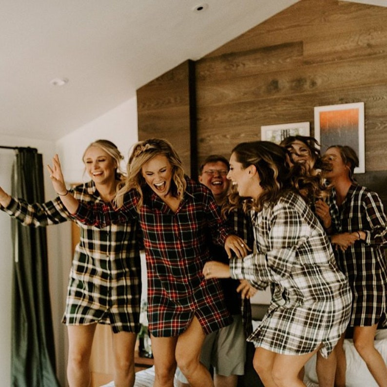 Bridesmaid Shirts Bridesmaid flannel shirt bridesmaid plaid image 0
