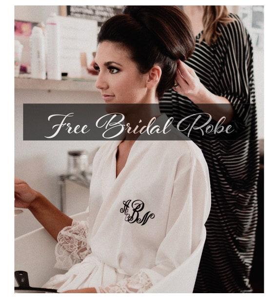 f6eb2807f866 Bridal Robe Lace Silk Gorgeous Silk and Lace Bridal Robe