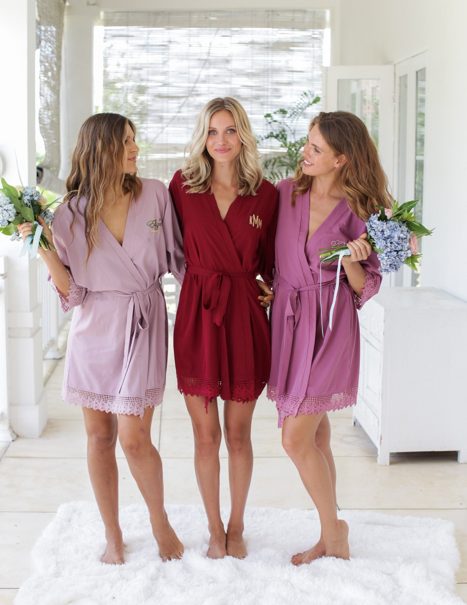 Personalized Bridesmaid Robes Bride Robe Bridal Robes Getting Ready Robe Bridal Shower Wedding Robe Wedding Gift Mother Of The Bride