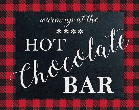 photograph relating to Hot Cocoa Bar Printable called Warm Chocolate Bar Printable
