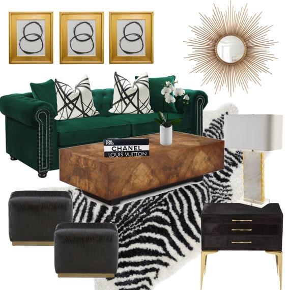 Online Interior Decorating: Living Room Decor, Living Room Design, eDesign,  Virtual Interior Decorator, 1 Room Design Plan