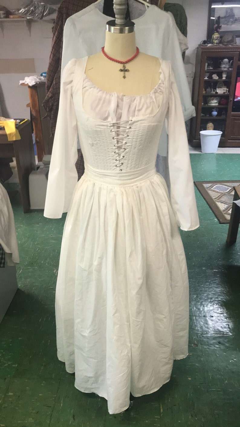 MADE TO ORDER Small Sizes 15th century inspired chemise, kirtle and  petticoat set  3 Piece set