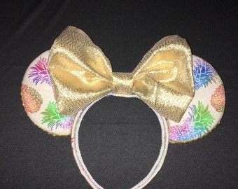 Dole Whip Inspired Minnie Mouse Ears