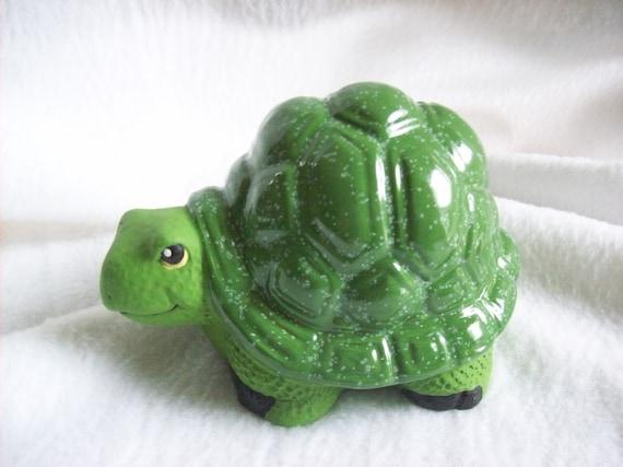 Ceramic Turtle,Glazed Turtle,Green Turtle,Garden Decor,Yard Decor,Fairy  Garden,Flower Garden,patio Decor