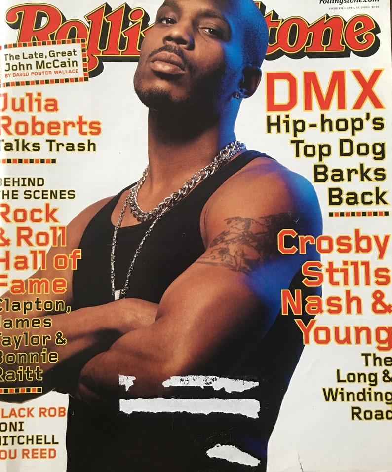 Rolling Stone 838 April 2000 - DMX, Crosby Stills Nash Young, John McCain,  Rock N Roll Hall Of Fame, Lou Reed, Joni Mitchell, Julia Roberts