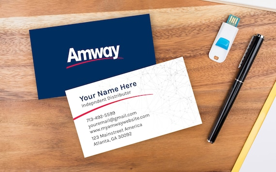 Amway Custom Business Card Double Sided Etsy