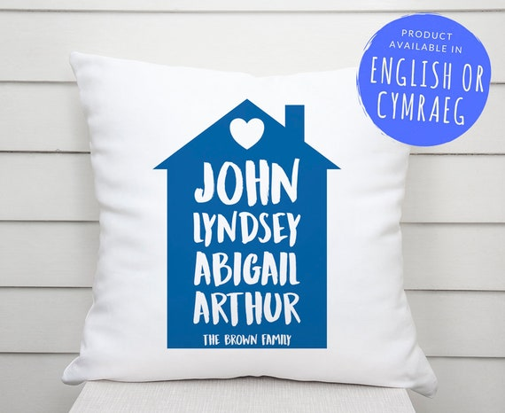Personalised Home Family Cushion