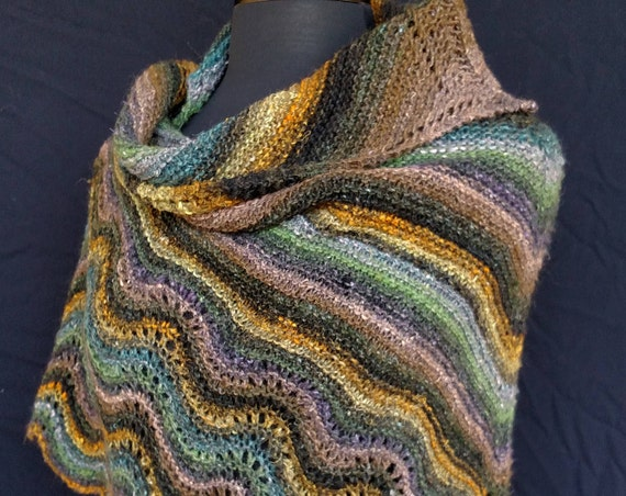 Shawl- Old Shale - Fairy Glen - Wool and Silk Blend